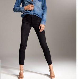 Denim Forum Nico Mid-Rise Crop Skinny Jeans